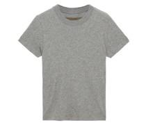 Meliertes T-shirt aus Jersey aus Einer Baumwoll-kaschmirmischung