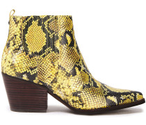 Winona Snake-effect Leather Ankle Boots