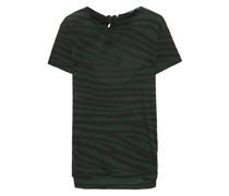 T-shirt aus Baumwoll-jersey mit Flammgarneffekt, Print und Bindedetail Hinten