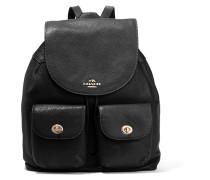 Billie Textured-leather Backpack Schwarz