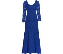 Off-the-shoulder Corded Lace Gown Königsblau