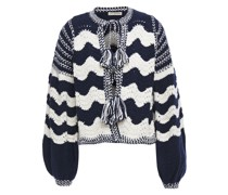 Yesenia Tasseled Crocheted Cotton And Wool-blend Cardigan