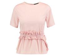 Chelsea Ruffled Cotton-poplin Top Pastellrosa