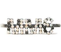 Silberfarbene Haarspange mit Kristallen