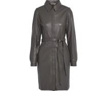 Clara Kleid aus Leder mit Gürtel