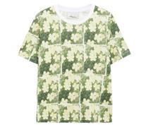 T-shirt aus Baumwoll-jersey mit Floralem Print