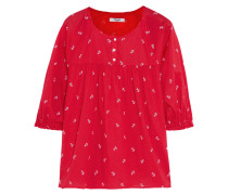 Floral-print Cotton Top Rot