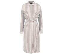 Paneled Striped Cotton-blend Poplin Midi Shirt Dress