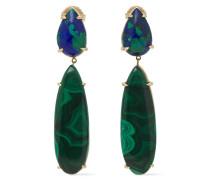 Rain 18-karat Gold Malachite Earrings
