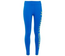 Neon-trimmed Logo-print Stretch-jersey Leggings