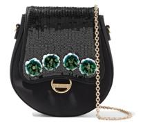 Dora Mini-schultertasche aus Satin mit Verzierung