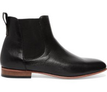 Troy textured-leather ankle boots