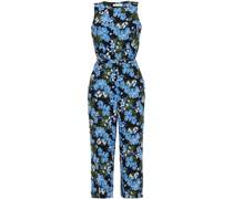 Cropped Jumpsuit aus Crêpe mit Floralem Print und Gürtel
