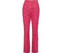 Cotton-blend Lace Straight-leg Pants Bonbonrosa