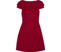 Woman Stretch-cotton Ponte Mini Dress Crimson