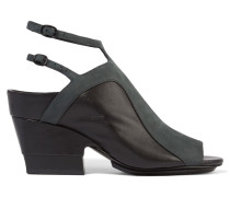 Aria Suede And Leather Sandals Anthrazit