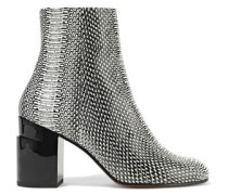 Keyla Snake-effect Leather Ankle Boots Animal Print