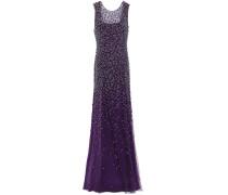 Assana Open-back Beaded Tulle Gown