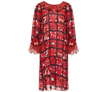 Ruffled Printed Georgette Mini Dress