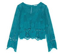 Alicia cropped crocheted cotton top