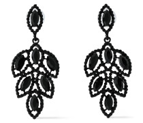 Coated Silver-tone Crystal Earrings