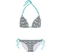 Alberobello Printed Triangle Bikini Türkis