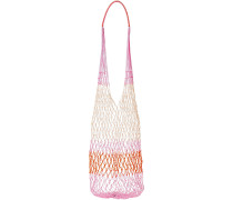 Color-block Macramé Shoulder Bag