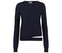 Ancora Cutout Cashmere And Silk-blend Sweater Mitternachtsblau