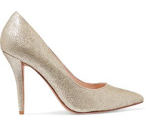 Adelite glittered-leather pumps