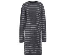 Striped Cotton-piqué Mini Dress