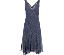 Dita Printed Silk-georgette Dress Midnight Blue Size 12