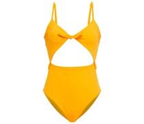 Kia Badeanzug mit Knotendetail und Cut-outs