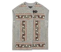 Diva Oversized Wool-blend Jacquard Vest Mehrfarbig