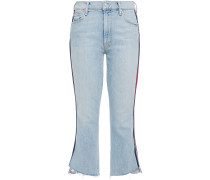 Insider Striped Mid-rise Kick-flare Jeans