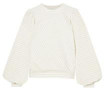 Hawley Metallic Striped Cotton-blend Velour Sweatshirt
