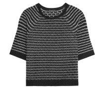Pointelle-knit Cashmere Sweater Schwarz