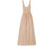 Oriana Striped Cotton-blend Maxi Dress