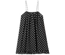 Minikleid aus Chiffon mit Polka-dots und Rüschen