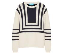 Intarsia Merino Wool Sweater Ecru