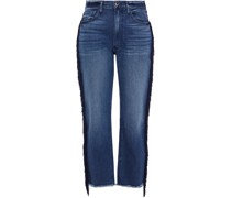 W3 Higher Ground Fringed High-rise Straight-leg Jeans