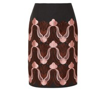 Embroidered Cotton-blend Skirt