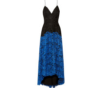 Two-tone Lace Gown Schwarz
