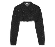 Cropped broderie anglaise cotton  jacket