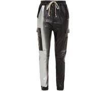 Track Pants aus Leder mit Farbverlauf