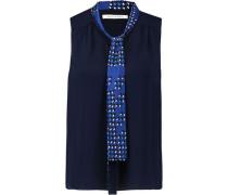 Britni pussy-bow silk blouse