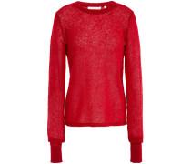 Air Crochet-knit Alpaca-blend Sweater