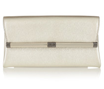 440 Envelope Metallic Textured-leather Clutch Gold