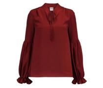 Gathered crepe blouse