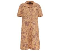 Bedrucktes Hemdkleid in Minilänge aus Baumwolle