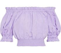 Caprina Schulterfreies Oberteil aus Moiré aus Einer Baumwollmischung